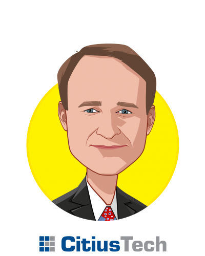 Main caricature of William Winkenwerder Jr,  MD, who is speaking at HLTH and is Chairman at CitiusTech, Inc.