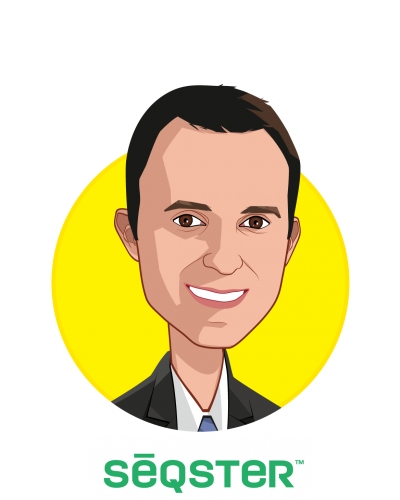 Main caricature of Ardy Arianpour, who is speaking at HLTH and is CEO & Co-Founder at Seqster