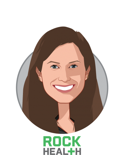 Main caricature of Becca Shmukler, who is speaking at HLTH and is Business Development & Partnerships Lead at Rock Health