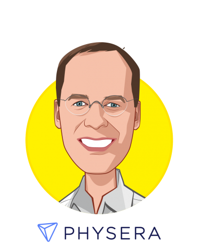 Main caricature of Y. Dan Rubinstein, who is speaking at HLTH and is Co-Founder and CEO at Physera