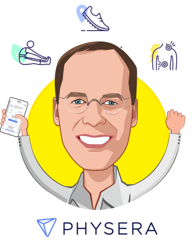 Overlay caricature of Y. Dan Rubinstein, who is speaking at HLTH and is Co-Founder and CEO at Physera
