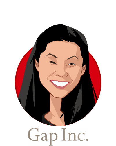 Main caricature of Jeni Chih, who is speaking at HLTH and is Sr Director, Global Benefits at Gap Inc