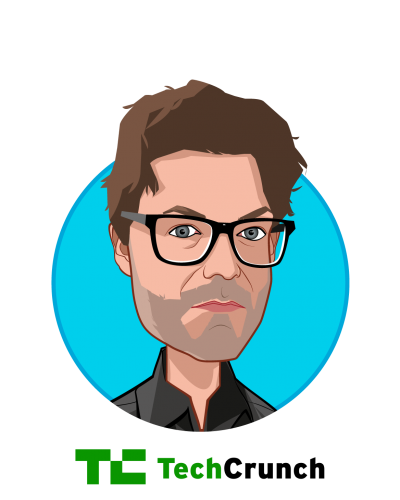 Main caricature of Jon Shieber, who is speaking at HLTH and is Senior Editor at TechCrunch