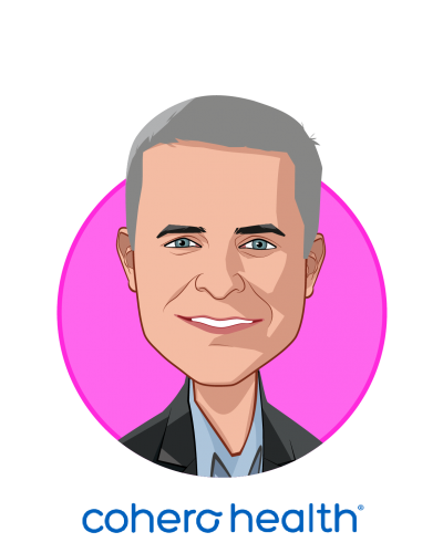 Main caricature of Joseph Condurso III, who is speaking at HLTH and is Chairman & Chief Executive Officer at Cohero Health