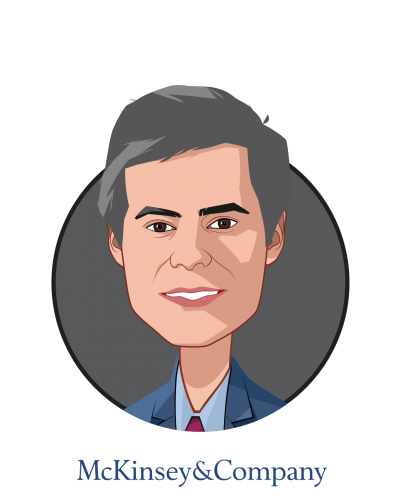 Main caricature of Luis Almeida Fernandes, who is speaking at HLTH and is Partner at McKinsey & Co