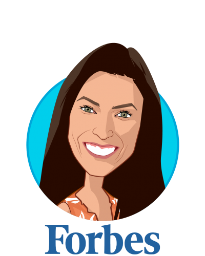 Main caricature of Nicole Fisher, who is speaking at HLTH and is Global Health, Technology and Policy Reporter at Forbes