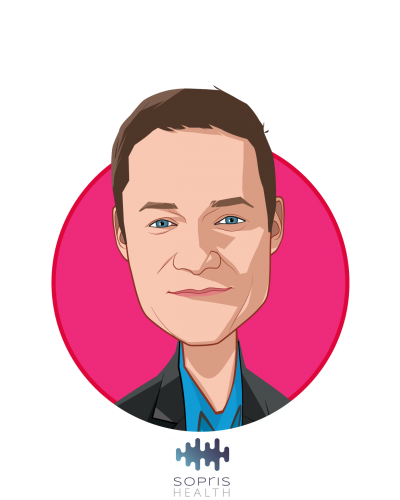 Main caricature of Patrick Leonard, who is speaking at HLTH and is CEO, Co-founder at Sopris Health