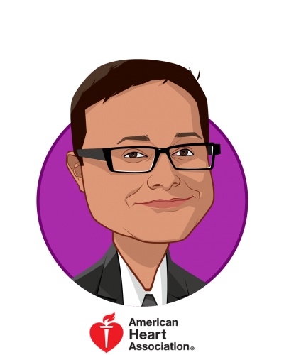 Main caricature of Prad Prassoon, who is speaking at HLTH and is Business Strategist, Emerging Technologies and Strategic Partnerships at American Heart Association