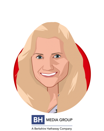 Main caricature of Roshelle Campbell, who is speaking at HLTH and is VP of HR at BH Media Group, Inc