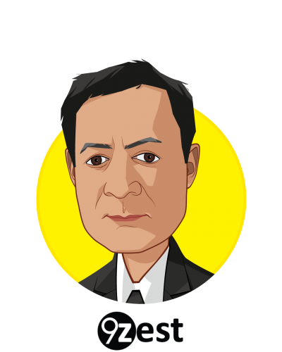 Main caricature of Sam Majmundar, who is speaking at HLTH and is Chief, Business Development at 9zest, Inc.