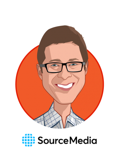 Main caricature of Scott Wenger, who is speaking at HLTH and is Editorial Director, Financial Planning Group/Employee Benefits Group at SourceMedia