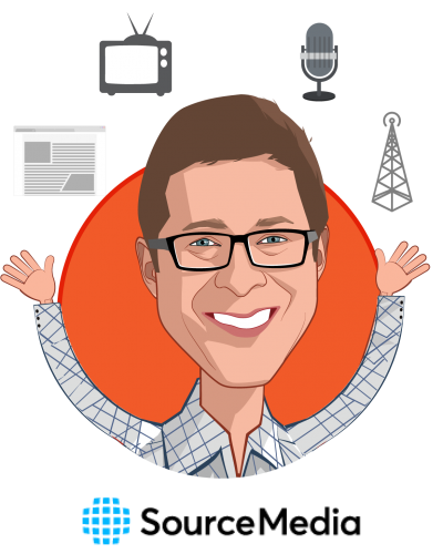 Overlay caricature of Scott Wenger, who is speaking at HLTH and is Editorial Director, Financial Planning Group/Employee Benefits Group at SourceMedia