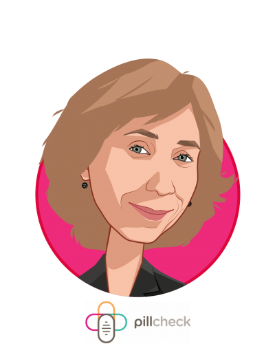 Main caricature of Veronika Litinski, who is speaking at HLTH and is CEO at GeneYouIn Inc.