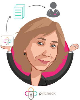 Overlay caricature of Veronika Litinski, who is speaking at HLTH and is CEO at GeneYouIn Inc.